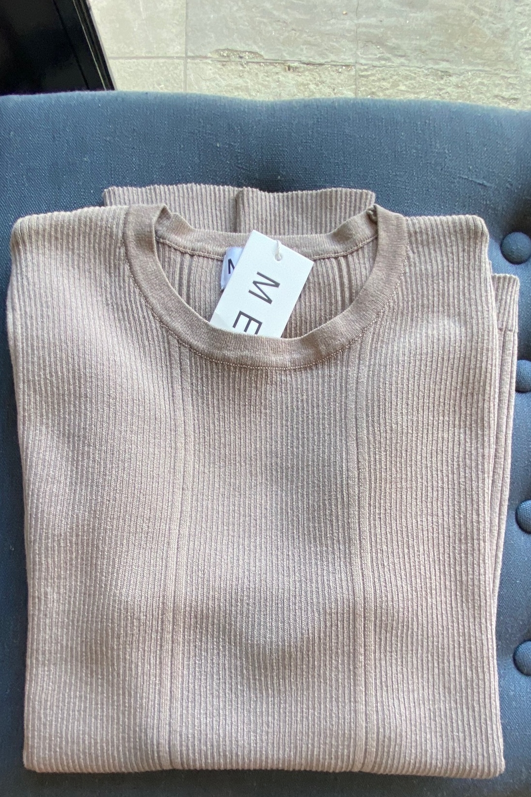 Meli by FAME Mixed Ribbed Sweater - Front Cropped Image