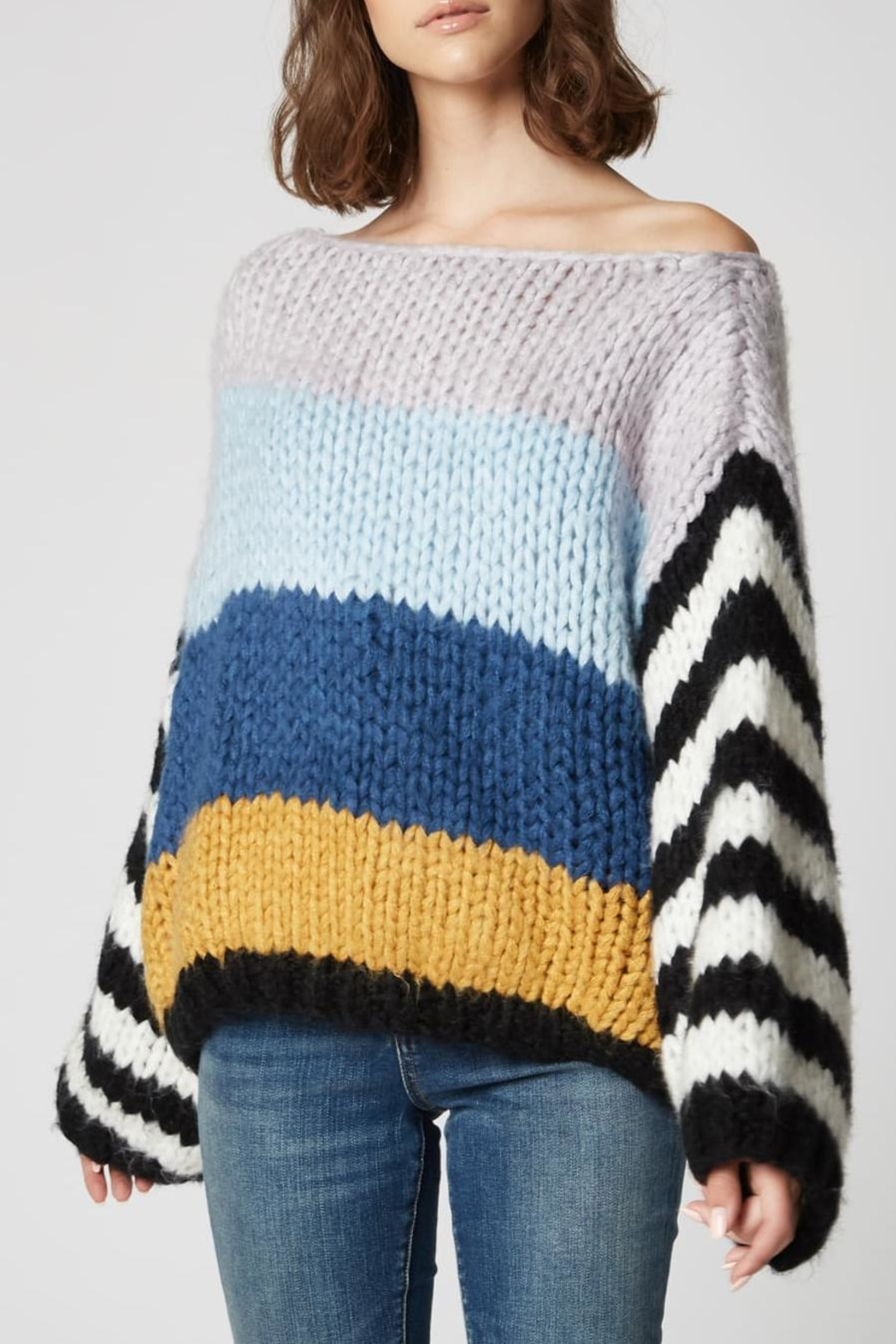 Blank NYC Mixed Signals Sweater - Front Full Image