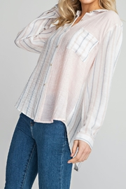 Glam Mixed Strip Button down top - Product Mini Image