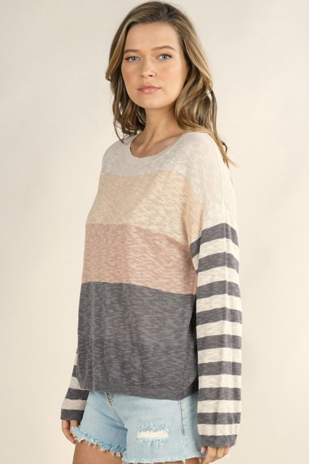 Lovestitch  Mixed Up Sweater - Front Full Image