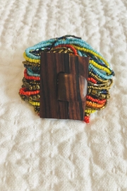 Pink House Mixed Wood Buckle Bracelet - Front cropped