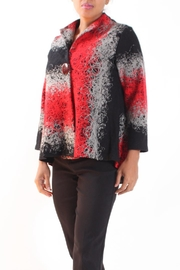 Talk of the Walk Mixed Yarn Jacket - Front cropped