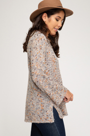 She & Sky  Mixed Yarn Tunic - Side cropped