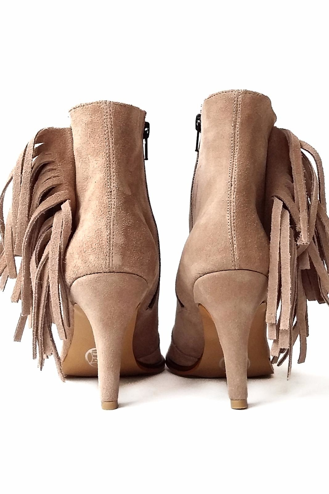 MIYE COLLAZZO BEIGE JOY BOOTIE - Side Cropped Image