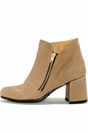 MIYE COLLAZZO Beige Leather Bootie - Product Mini Image