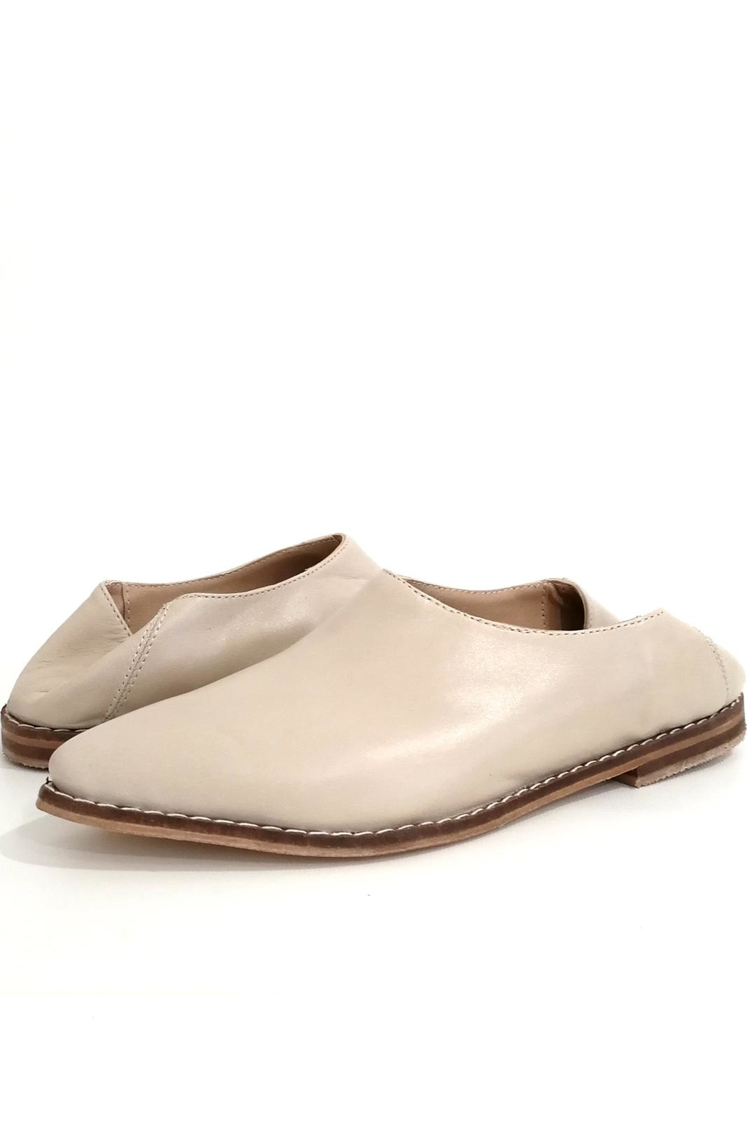 MIYE COLLAZZO Beige Mule Shoes - Side Cropped Image