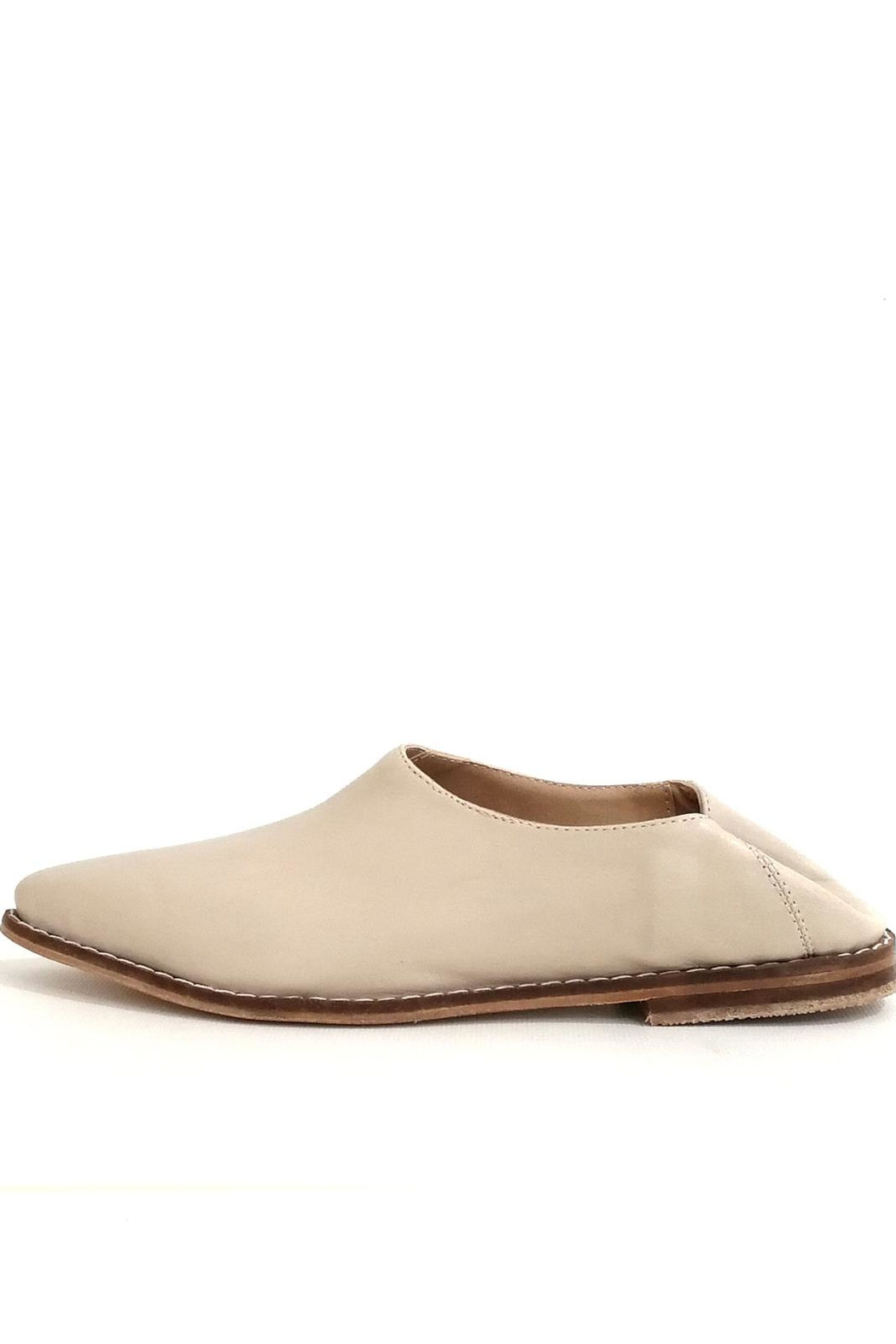 MIYE COLLAZZO Beige Mule Shoes - Front Full Image