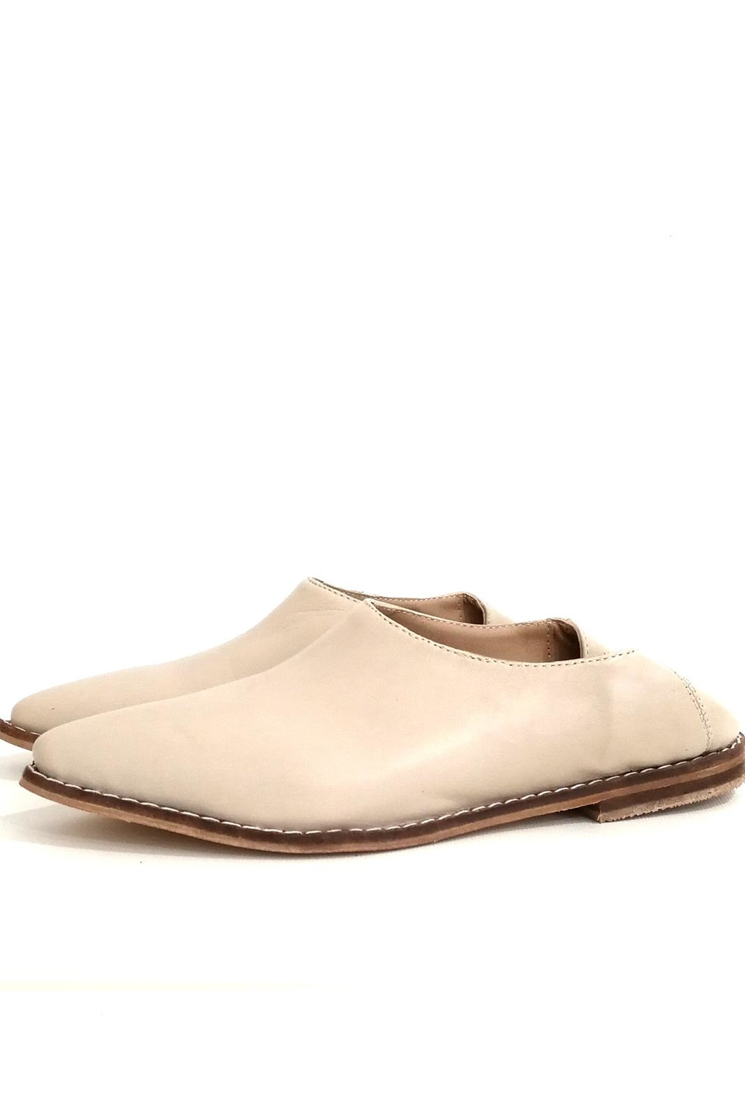MIYE COLLAZZO Beige Mule Shoes - Front Cropped Image