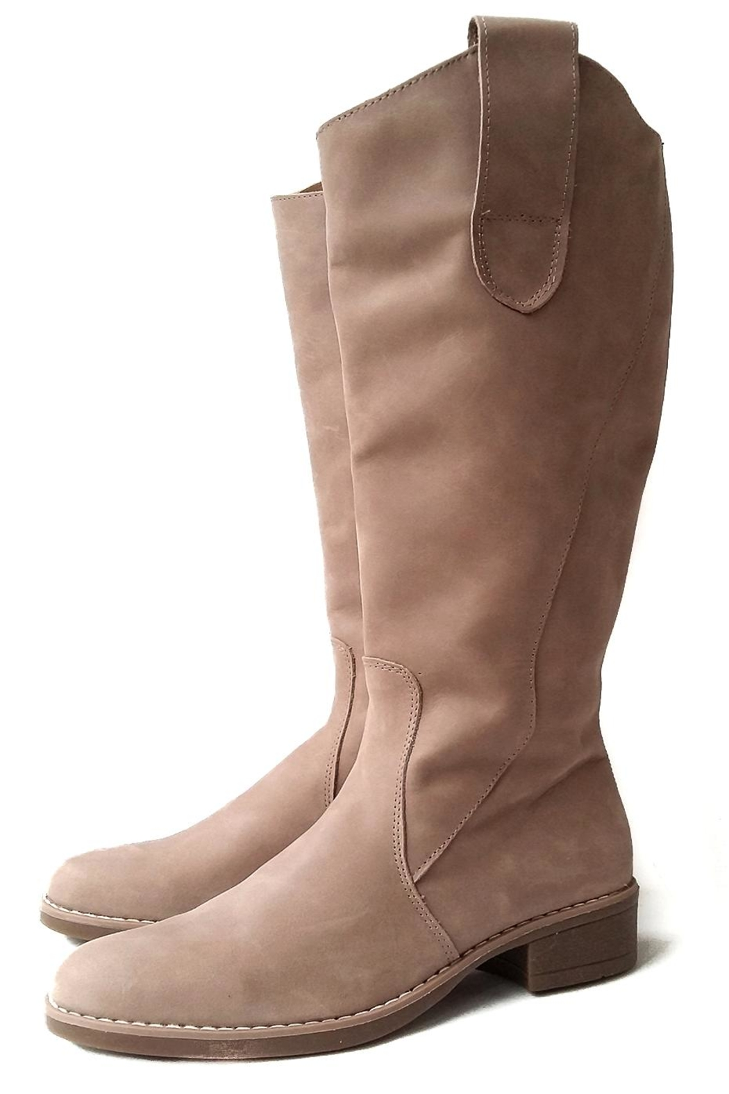 Beige Riding Boot