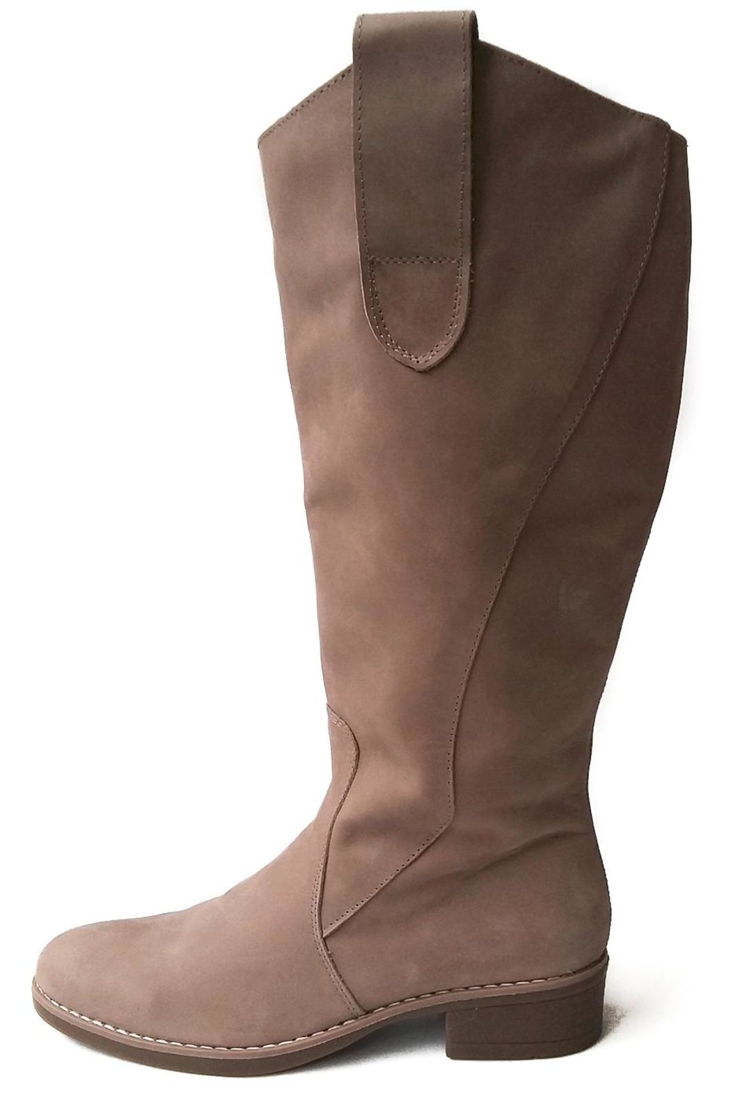 MIYE COLLAZZO Beige Riding Boot - Front Cropped Image