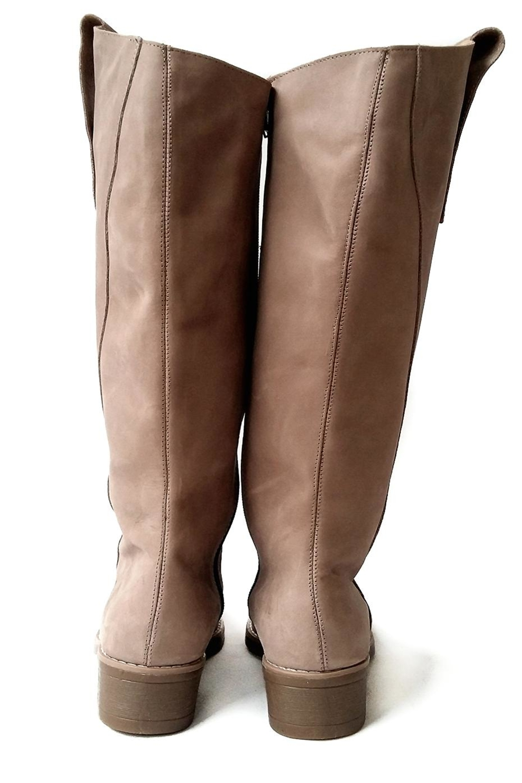 MIYE COLLAZZO Beige Riding Boot - Side Cropped Image