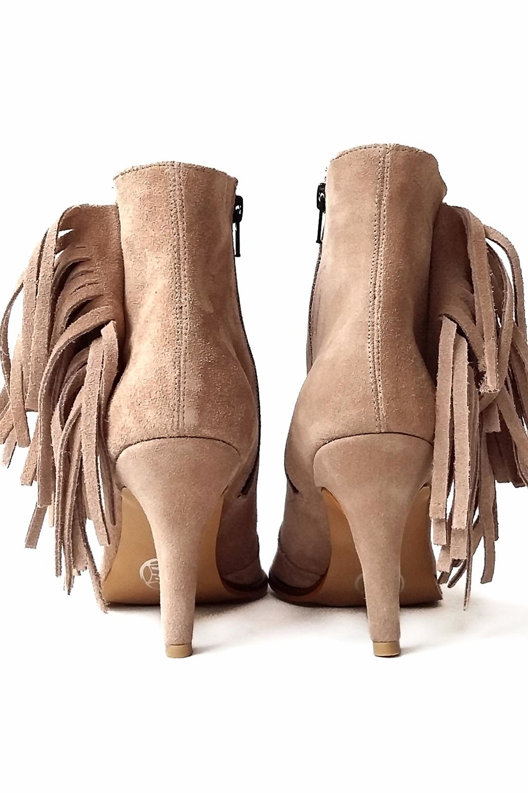 MIYE COLLAZZO Beige Suede Bootie - Side Cropped Image