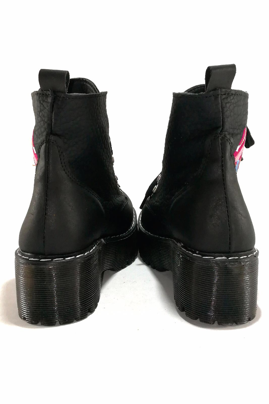 MIYE COLLAZZO Black Butterfly Boots - Side Cropped Image