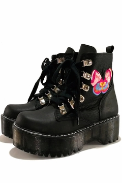 MIYE COLLAZZO Black Butterfly Boots - Product List Image
