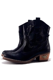 MIYE COLLAZZO Black Cowboy Boot - Front cropped