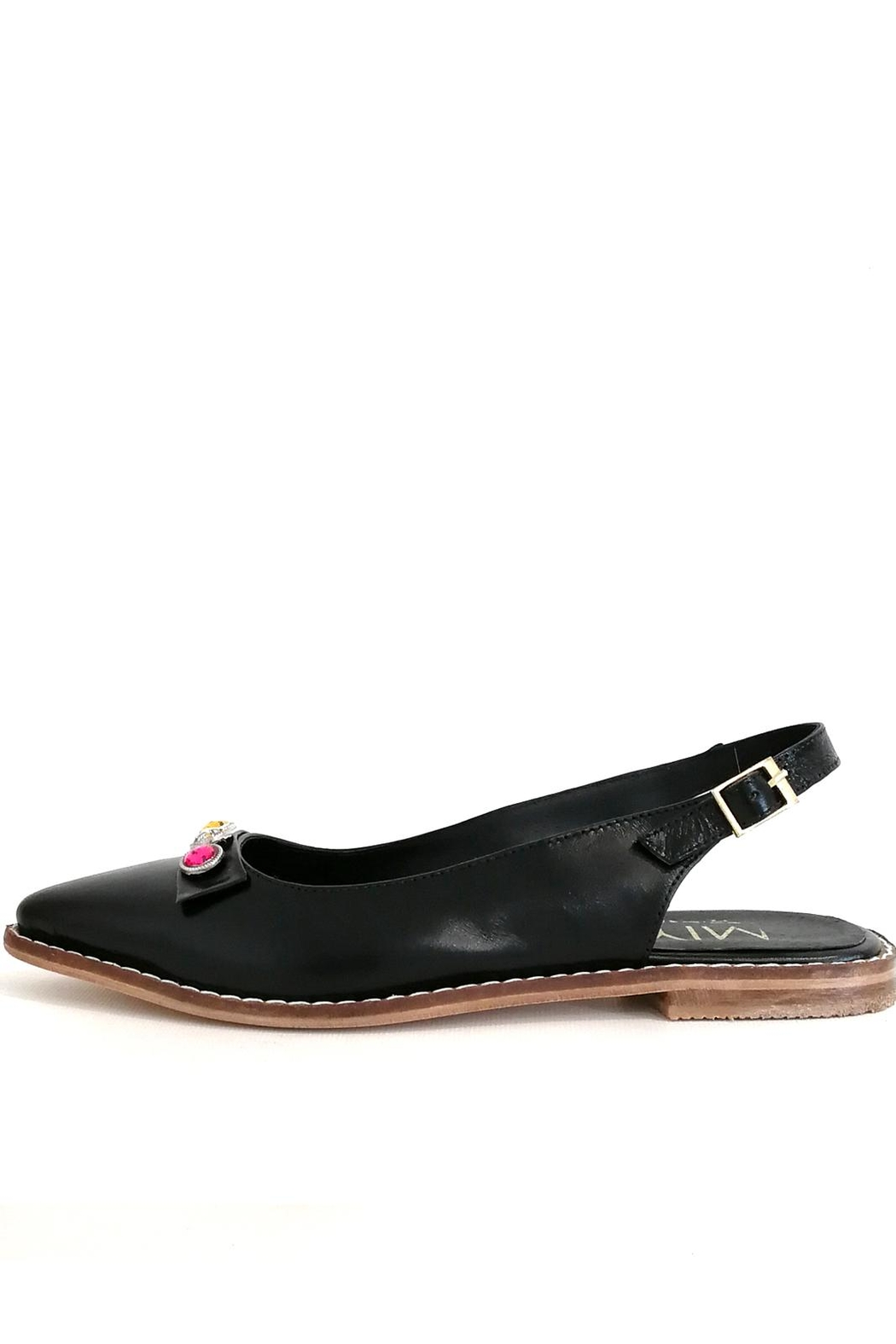 MIYE COLLAZZO Black Sapling Shoe - Main Image