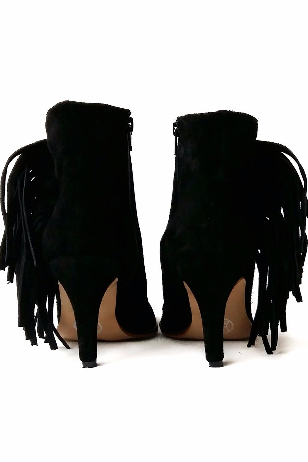 MIYE COLLAZZO Black Suede Bootie - Side Cropped Image