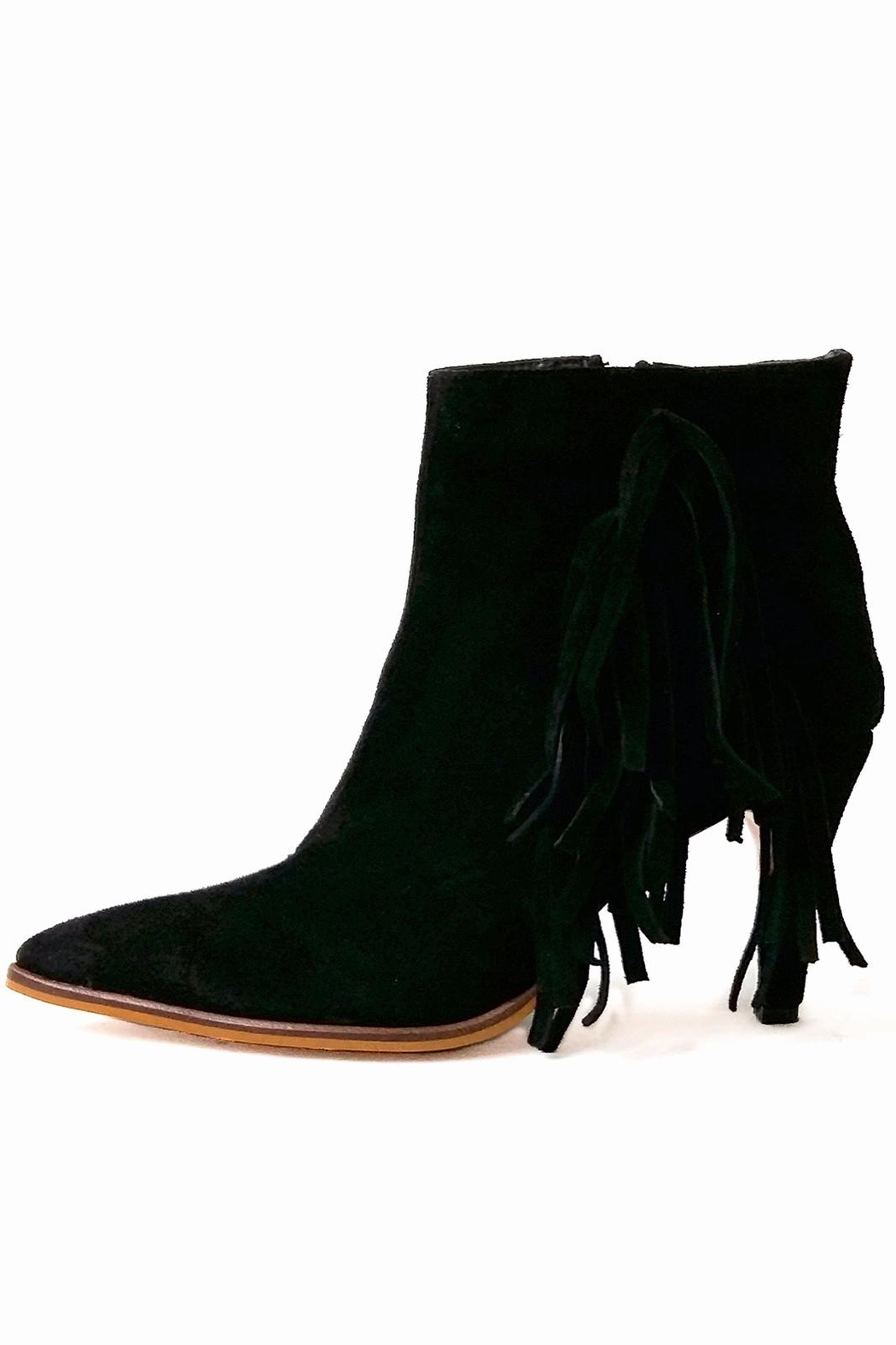 MIYE COLLAZZO Black Suede Bootie - Front Cropped Image