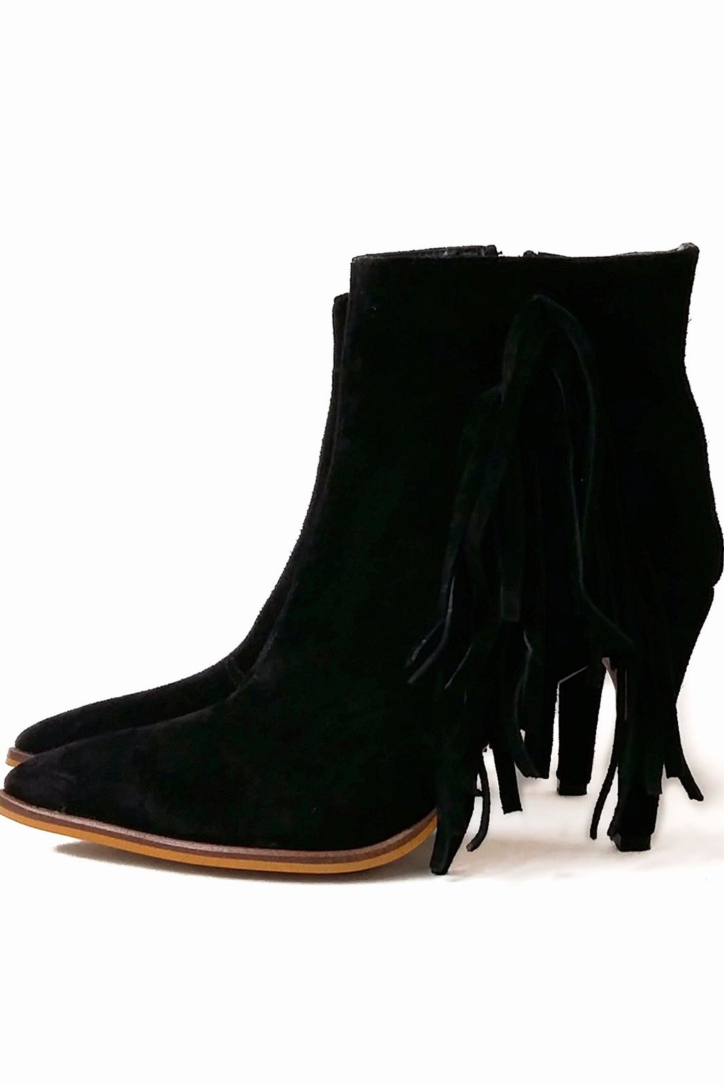 MIYE COLLAZZO Black Suede Bootie - Front Full Image