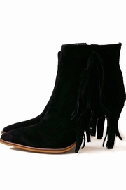 MIYE COLLAZZO Black Suede Bootie - Front full body