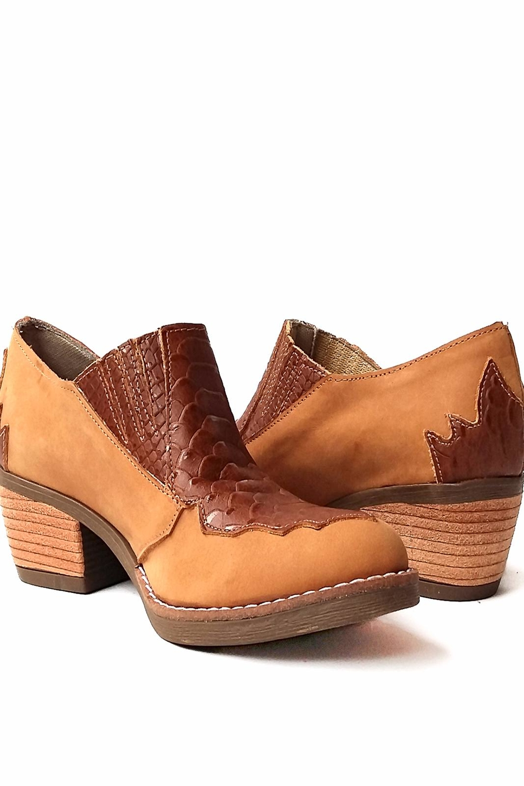 MIYE COLLAZZO Brown Brave Booties - Side Cropped Image