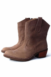 MIYE COLLAZZO Brown Cowboy Boot - Front cropped