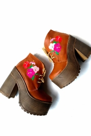 MIYE COLLAZZO Brown Embroidered Bootie - Other
