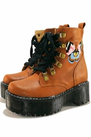 MIYE COLLAZZO Butterfly Platform Boots - Front cropped