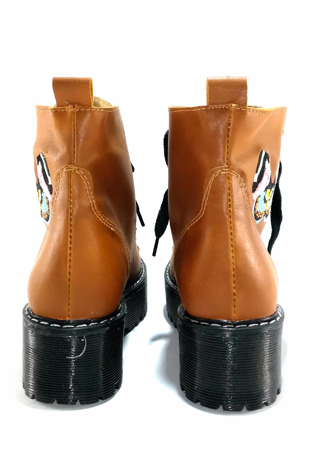 MIYE COLLAZZO Butterfly Platform Boot - Back Cropped Image