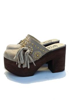 Shoptiques Product: Beige Fashion Leather Clog