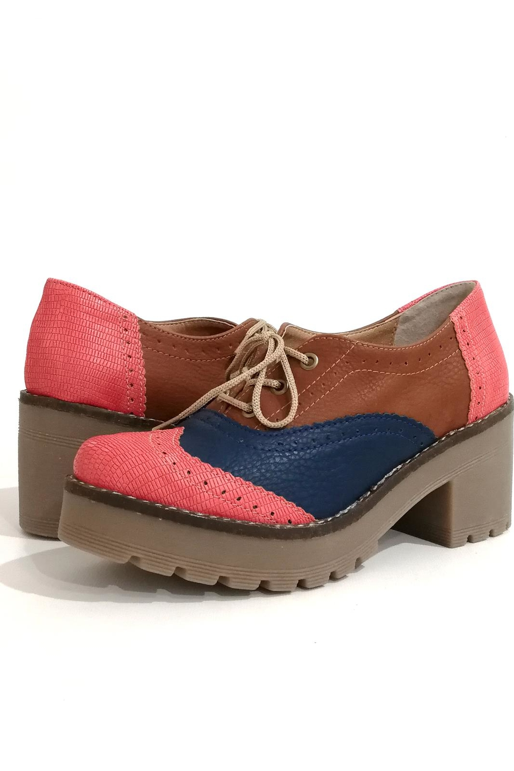 MIYE COLLAZZO Hope Pink Shoes - Side Cropped Image