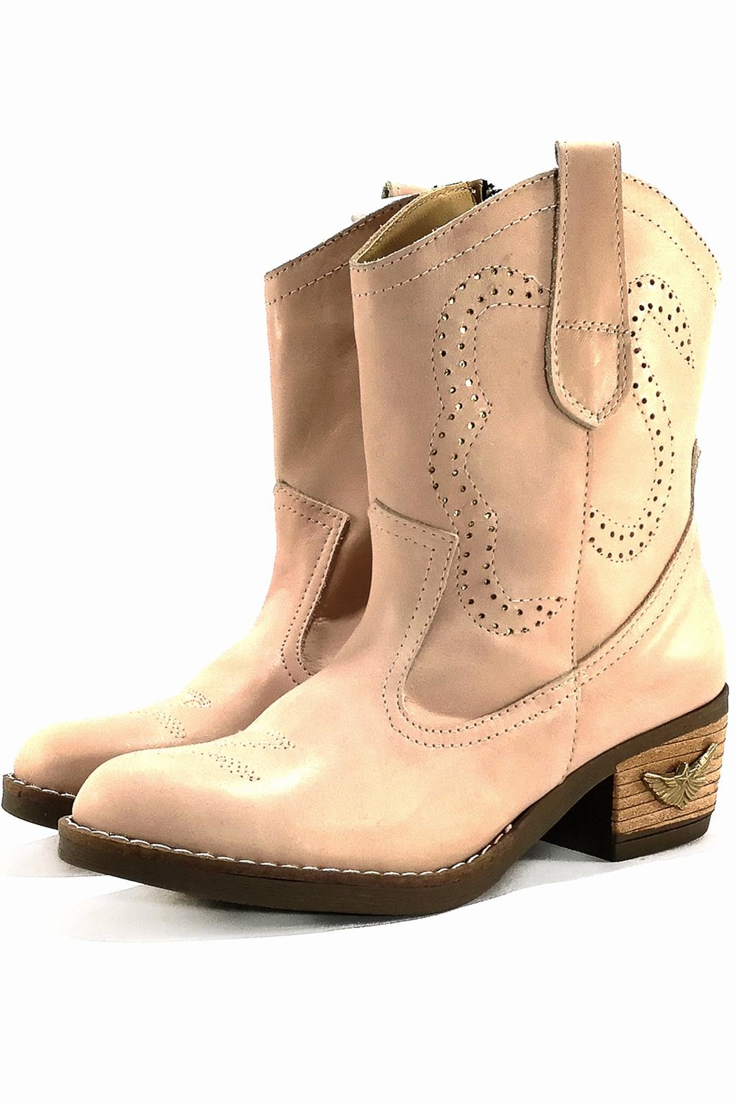 MIYE COLLAZZO Pink Cowboy Boot - Front Cropped Image