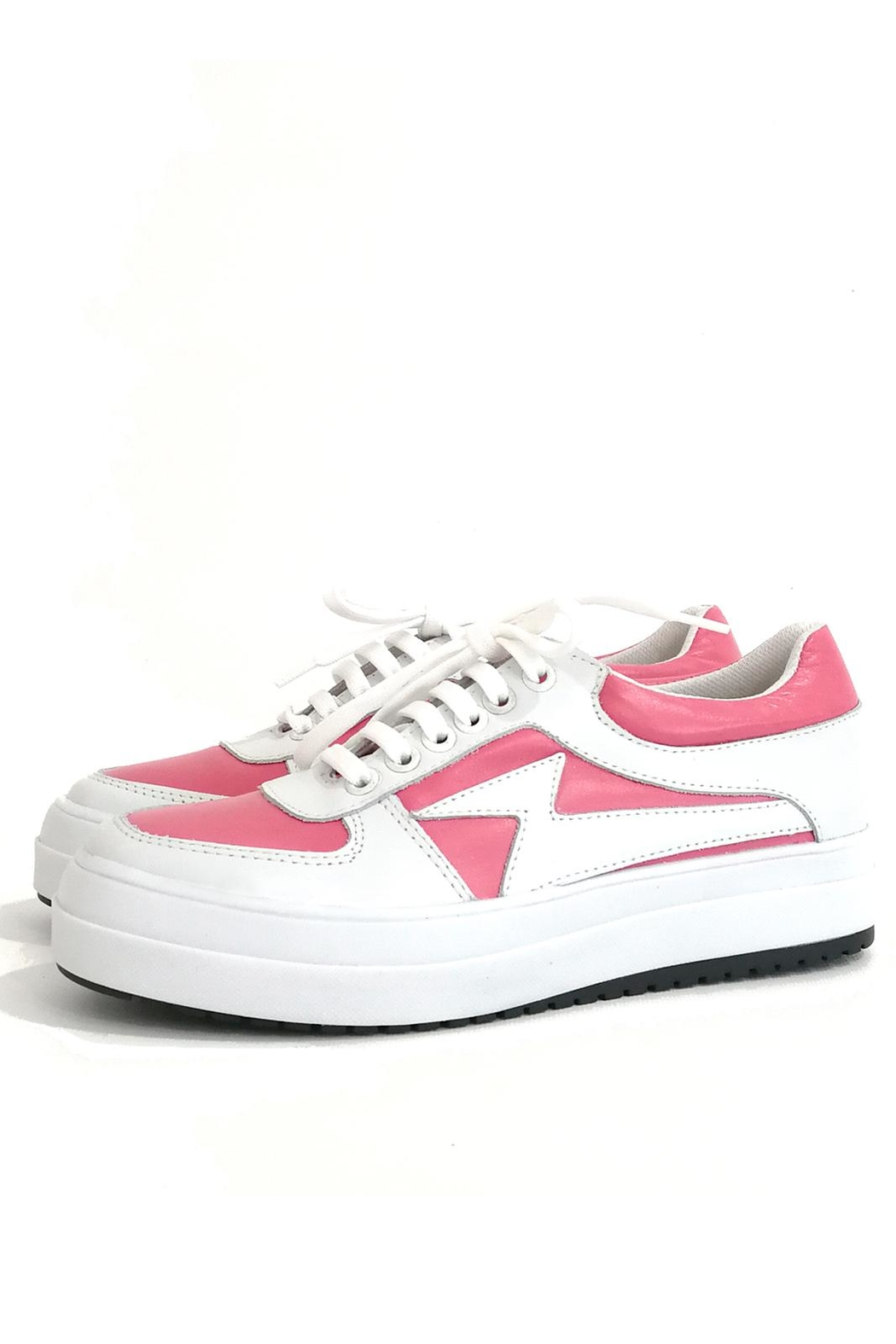MIYE COLLAZZO Pink Malva Sneaker - Front Cropped Image