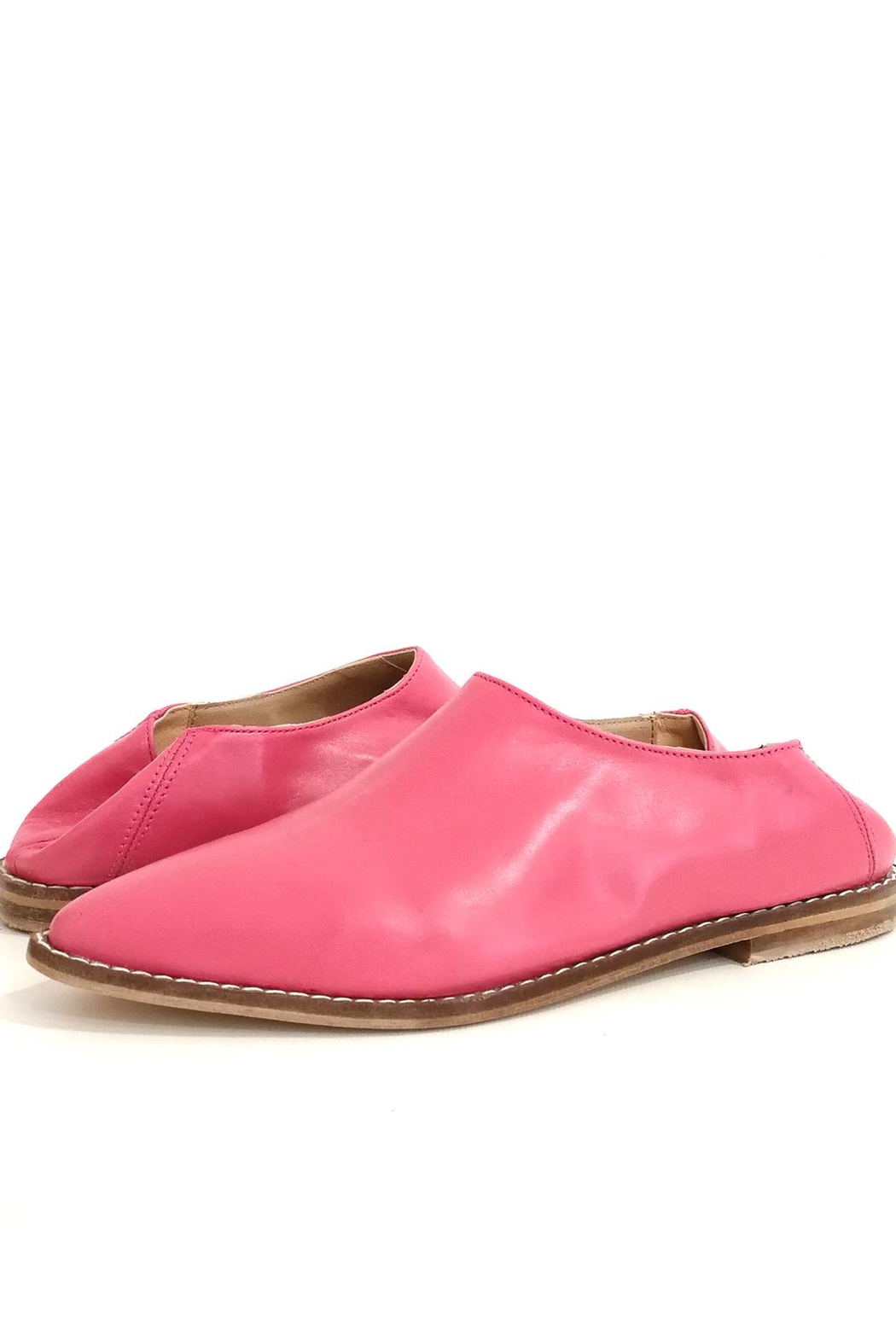 MIYE COLLAZZO Pink Mule Shoes - Side Cropped Image