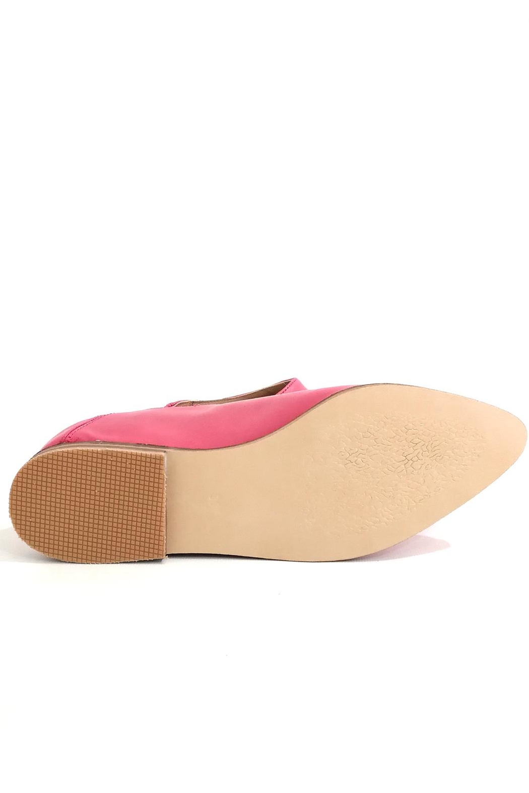 MIYE COLLAZZO Pink Mule Shoes - Back Cropped Image