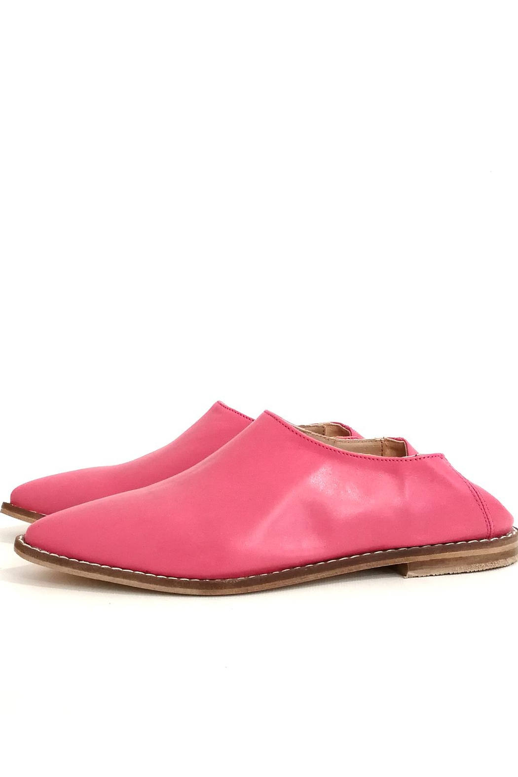 MIYE COLLAZZO Pink Mule Shoes - Front Cropped Image