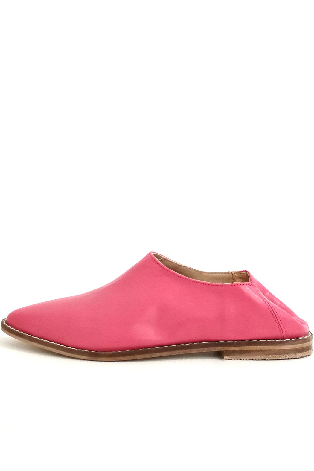 MIYE COLLAZZO Pink Mule Shoes - Front Full Image