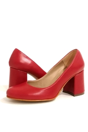 MIYE COLLAZZO Red Block Heel Sandal - Side cropped