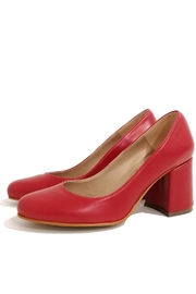 MIYE COLLAZZO Red Block Heel Sandal - Product Mini Image