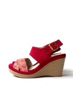 Shoptiques Product: Pink Leather Wedge