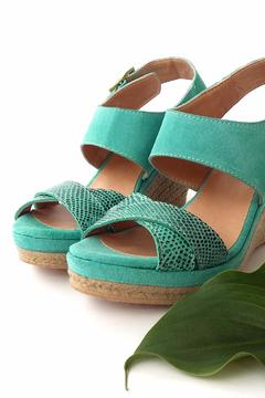 Shoptiques Product: Green Leather Wedges