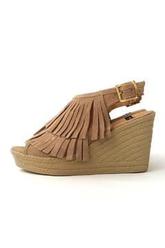 Shoptiques Product: Beige Fringe Wedge