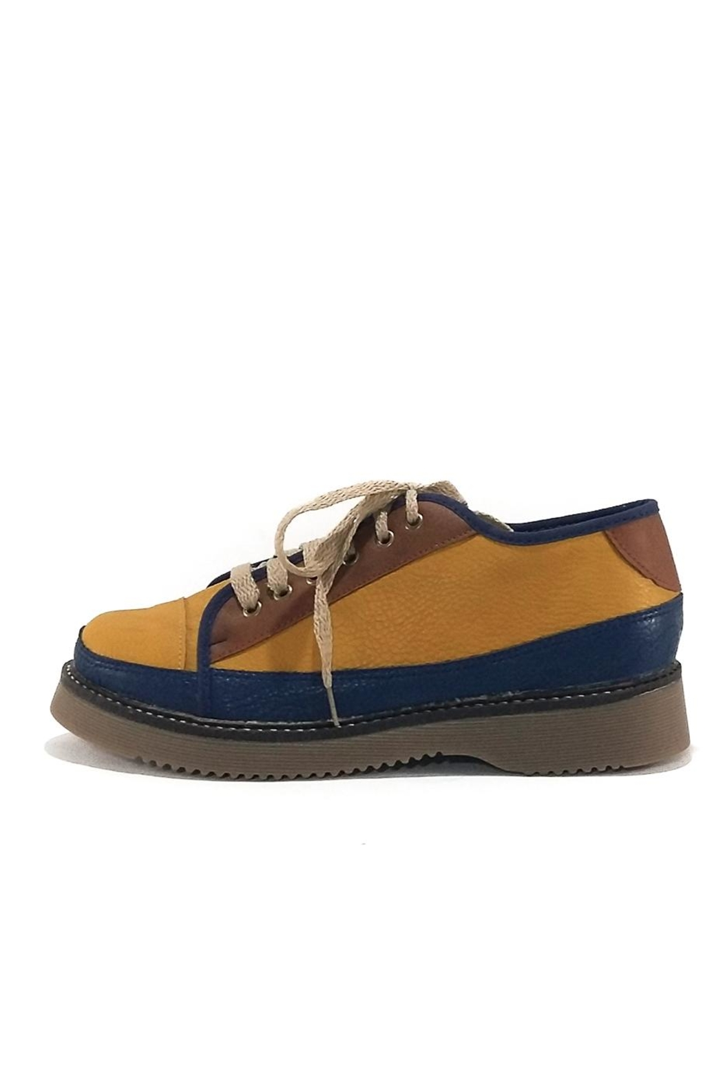 MIYE COLLAZZO Yellow Attitude Sneakers - Front Full Image