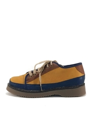 MIYE COLLAZZO Yellow Attitude Sneakers - Front full body