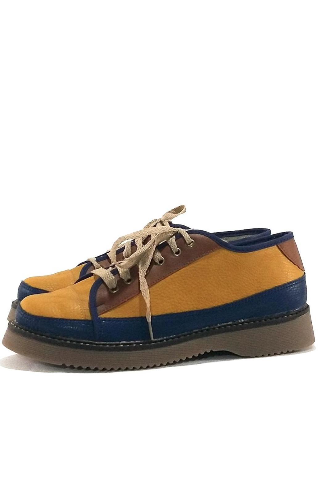 MIYE COLLAZZO Yellow Attitude Sneakers - Main Image