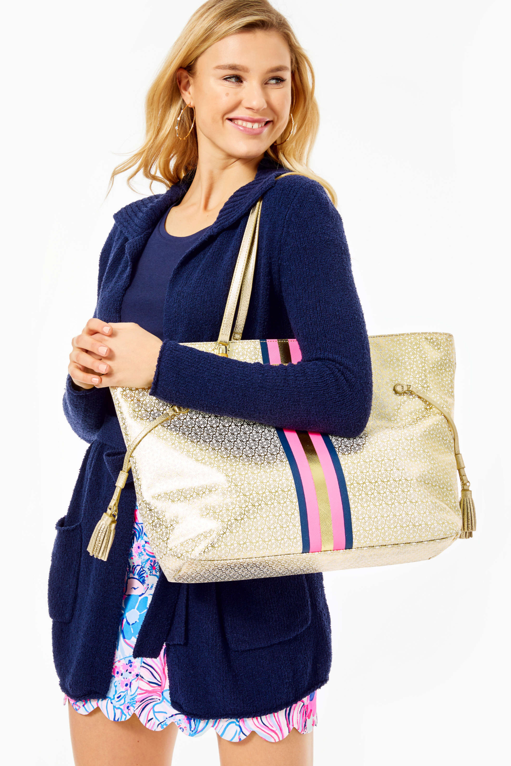 Lilly Pulitzer  Mizner Tote - Back Cropped Image