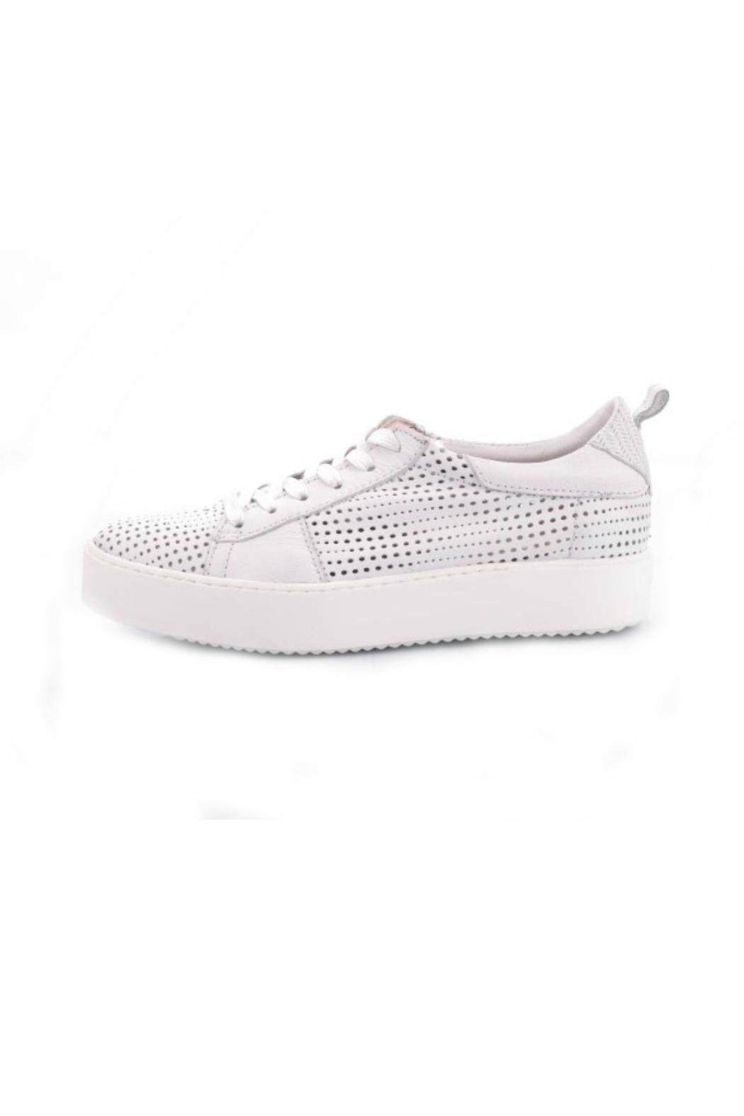 MJUS White Leather Shoe - Front Cropped Image