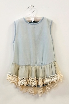 ML Kids Lace Peplum Top - Alternate List Image