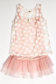 ML Kids Pink Lace Overlay - Front cropped