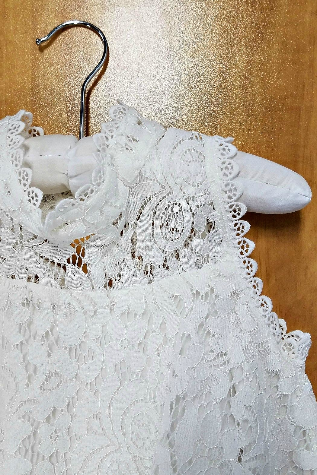 ML Kids Sleeveless A-Line Lace-Top - Side Cropped Image